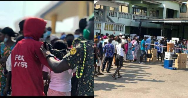 Election 2020: Voters break into Odododiodio City Engineers polling station; chaos erupts