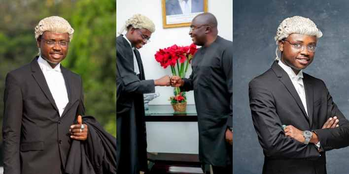 Man whose fees was paid in full by Vice President Bawumia becomes lawyer; photo drops