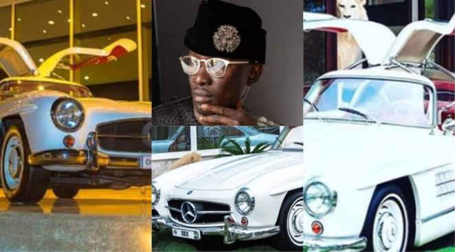 Image result for Nana 'Cheddar' Bediako: A Closer Look at the Ghanaian Billionaire's Gull-wing Door Exotic Mercedes-Benz in Recent Photos