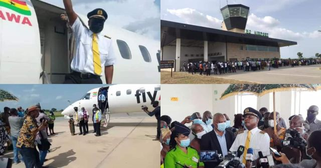 Ho Airport: Photo And Video Drop As 1st Plane Flies To Volta Regional Capital