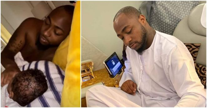 Davido shows off his baby Ifeanyi Adeleke in adorable post (photo)