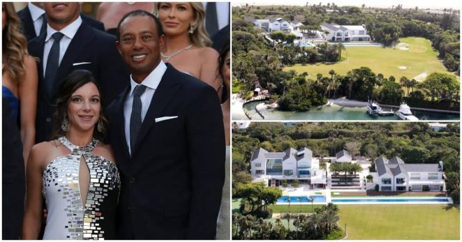 Tiger Woods Flaunts $50 Million Mansion with 100ft Gaint pool