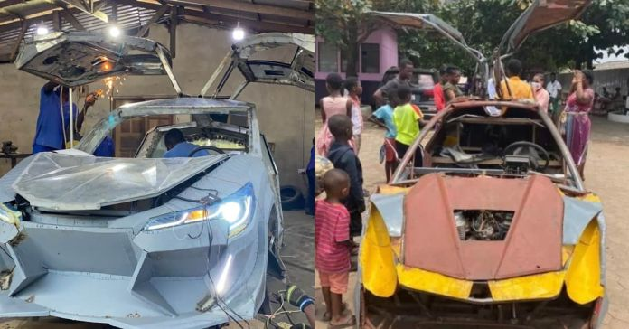 18-year-old JHS car manufacturer's design remade by Kantanka Automobile