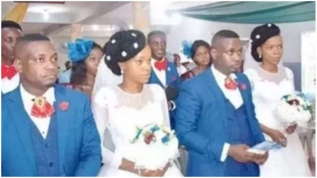 Twin sisters wed twin brothers in lovely wedding ceremony in Lagos