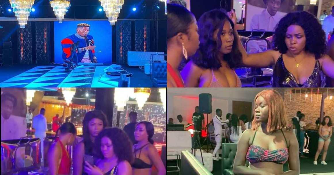 Shatta Wale birthday: Hot bikini ladies storm #Shattabration party (videos)