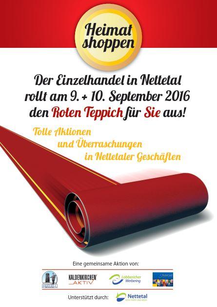 Plakat Heimat shoppen 2016