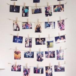 Ein paar kreative Weisen wie man Fotos aufhngen kann