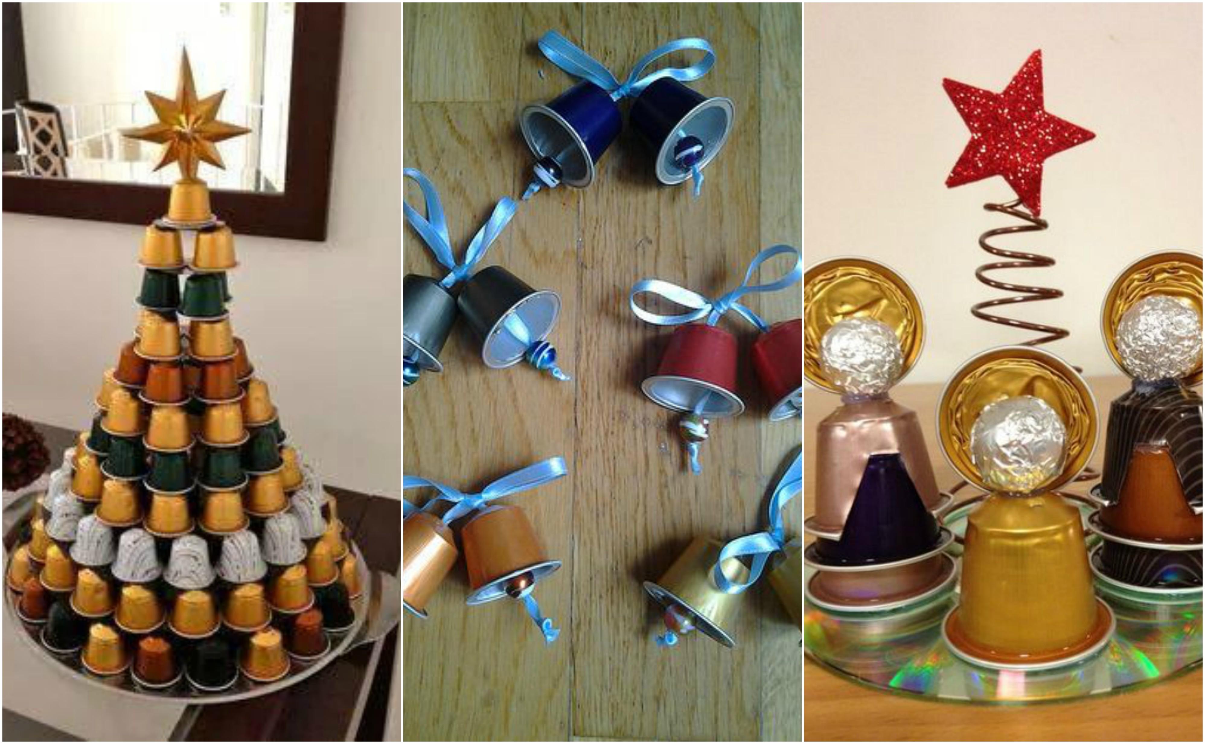 15 upcycling Kaffeekapseln Weihnachtsdeko zum Selbermachen