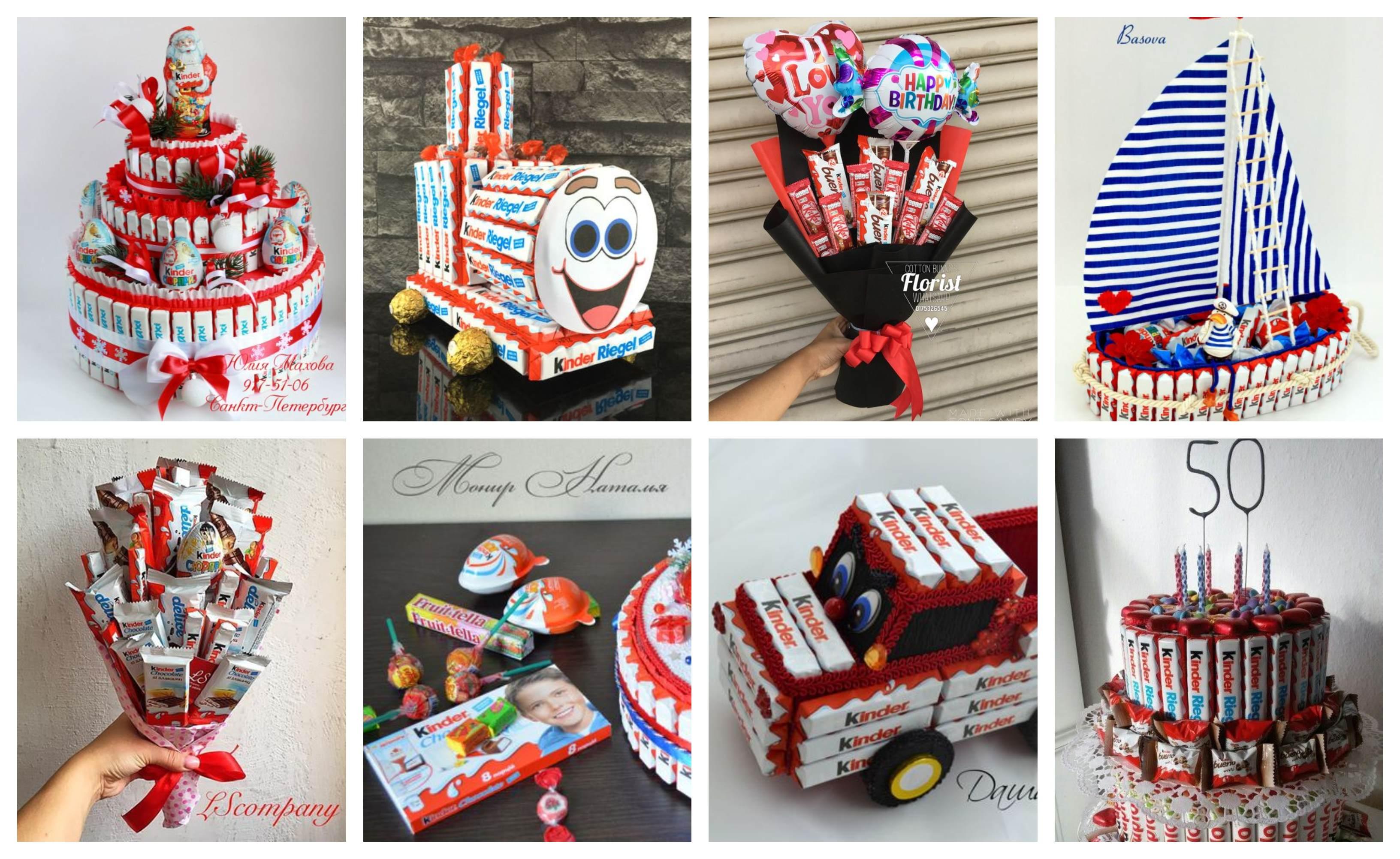 Kreative Geburtstagsgeschenke mit Kinder Schokolade