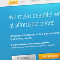 Design a beautiful website from scratch.