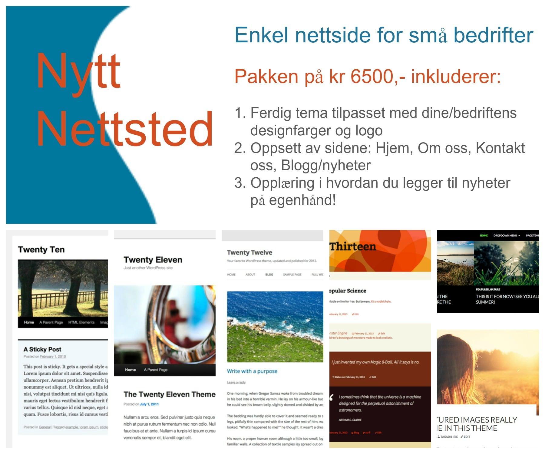 Annonsering av tilbud på nettsidedesign