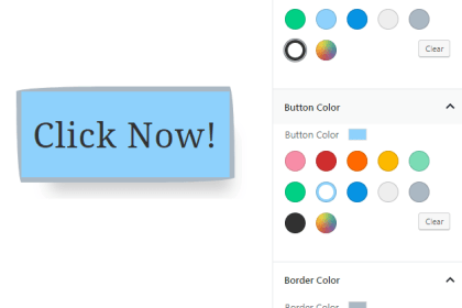 Screenshot Gutenberg Buttons