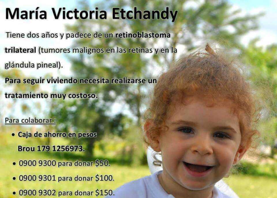 María Victoria Etchandy necesita de tu ayuda para seguir viviendo…