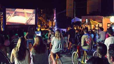 Patricia presentó nuevas funciones de Cine a Pedal en La Pedrera y Santa Teresa