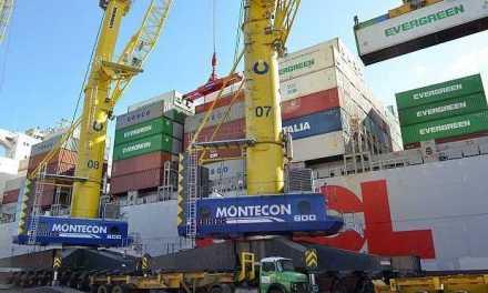Montecon incorporará dos grúas móviles gigantes para operar barcos de gran porte