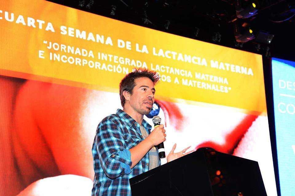 Rafa Cotelo celebró la Semana de la Lactancia Materna junto a Enjoy Conrad y Sanatorio Mautone