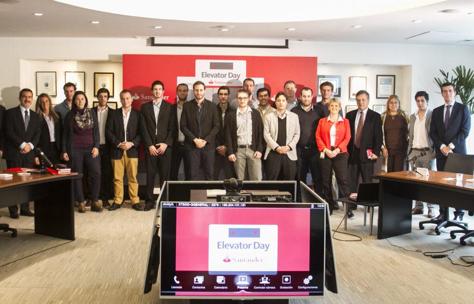 Banco Santander organizó la primera edición del Elevator Day en la que emprendedores presentaron sus ideas innovadoras