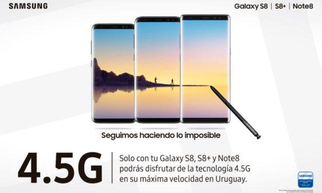 Con Samsung, los consumidores ya pueden disfrutar la tecnología 4.5G en Uruguay
