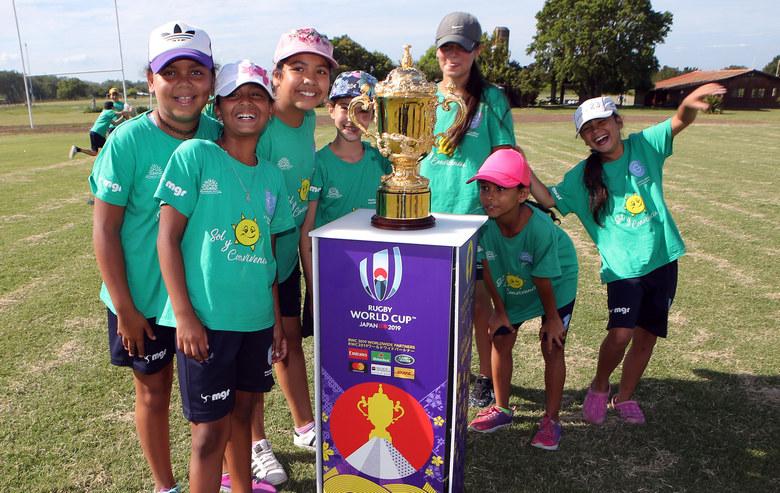 Uruguay da la bienvenida a la Copa Webb Ellis al anunciar World Rugby los destinos del Trophy Tour de la Copa del Mundo de Rugby 2019