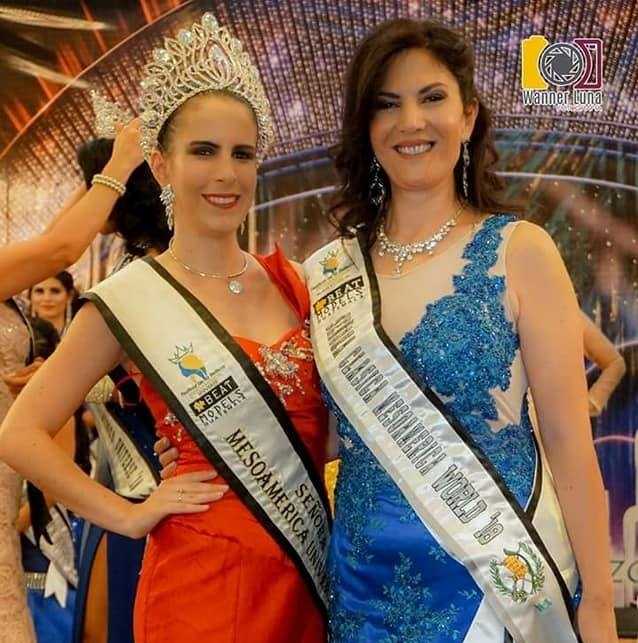 La Doctora y Modelo Diana Morgades obtuvo el título de Señora Clásica Mesoamerica World 2018