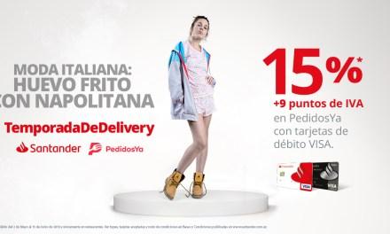 Santander suma beneficios a los pagos con tarjeta de débito en PedidosYa