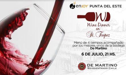 """Llega una nueva edición de la tradicional """"Wine Dinner"""" a Enjoy Punta del Este"""