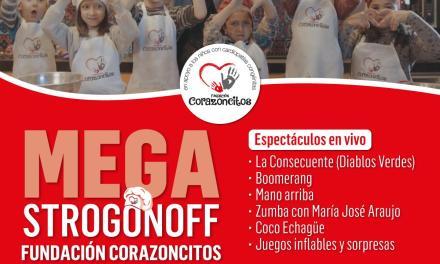 Mega Strogonoff solidario a beneficios de la Fundación Corazoncitos