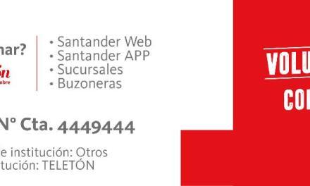 Santander reafirma su apoyo a la Teletón y organiza actividades para recaudar fondos