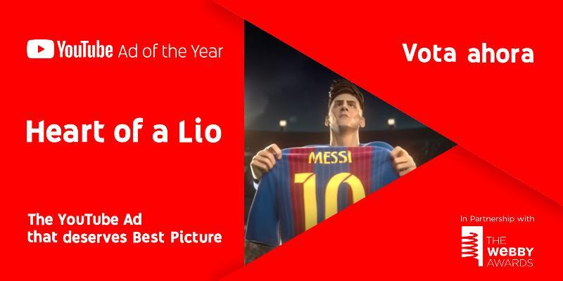 """""""Heart of a Lio"""", la biopic animada de Messi, única producción argentina nominada al premio #The You Tube Ad of The Year"""