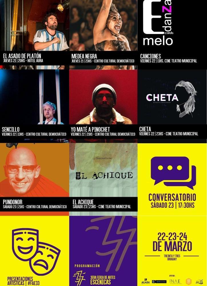 LLEGA A TREINTA Y TRES LA TERCERA FERIA DE ARTES ESCÉNICAS