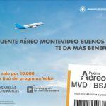 Aeropuerto de Carrasco e Itaú ofrecen múltiples beneficios en el puente aéreo Montevideo-Buenos Aires