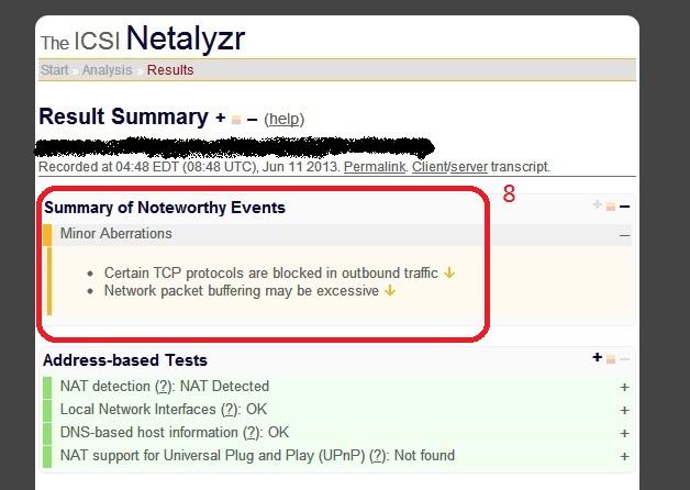 如何使用 ICSI Netalyzr 分析網路狀態   Network neutrality