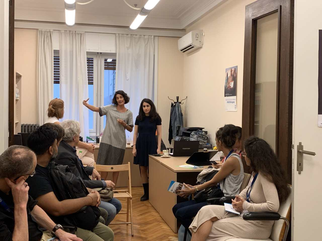 Field visit to the Integration Centre for Migrant Workers - Ecumenical Refugee Program of the Church of Greece, Athens - October 2019