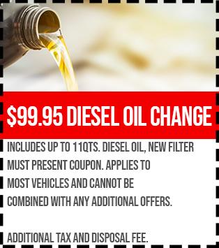 99.95 diesel oil change