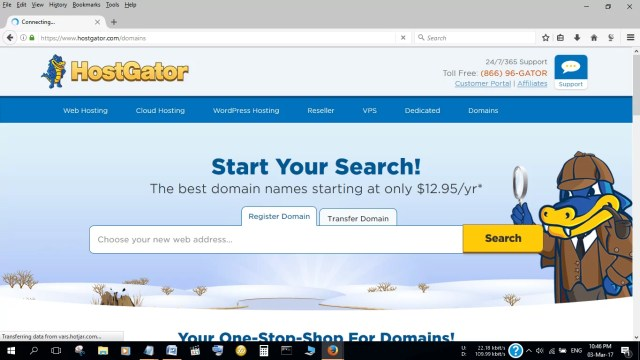 Domains at HostGator