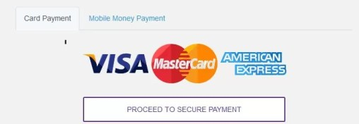 Pay for Kwese using a VISA card