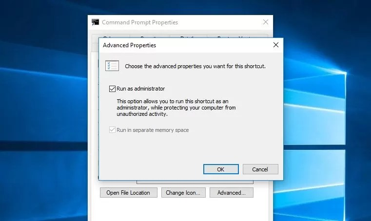 always run Command Prompt as an Administrator