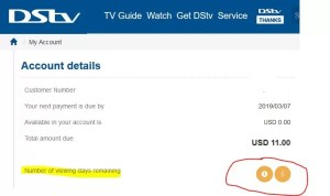 Check the Number of Days Remaining on your DSTV Subscription