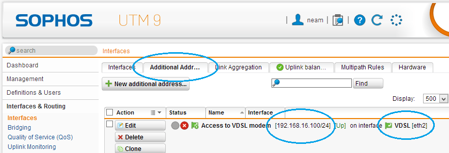 Using a VDSL line with Sophos UTM (6/6)