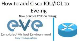 how to add cisco iou to eve-ng