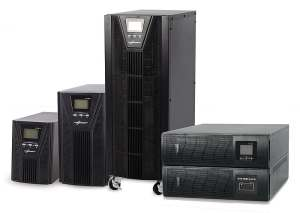 serie di UPS Third Power, da sinistra version Tower 1-5KVA, 5-10KVA Tower, 10,20KVA e rack 1-10KVA