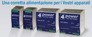 Immagine della serie di Alimentatori industriali 4Power barra DIN 24V-48V