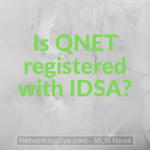 Is QNET registered with IDSA