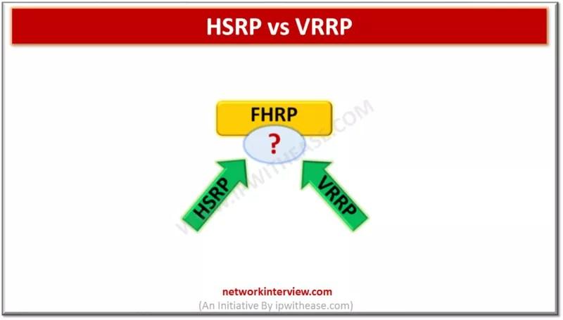 HSRP vs VRRP - Network Interview