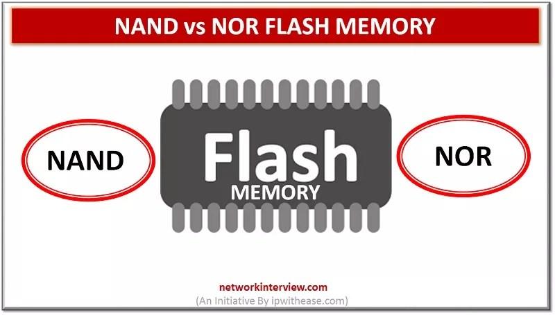 Nand vs Nor Flash Memory