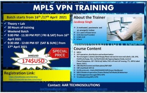 MPLS VPN TRAINING