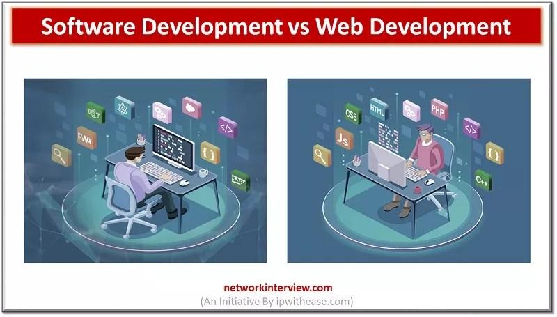 SOFTWARE DEVELOPMENT VS WEB DEVELOPMENT