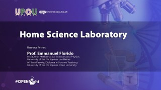 Home Science Laboratory | Prof. Emmanuel Florido