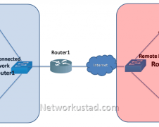 Packet on remote and directly connected network