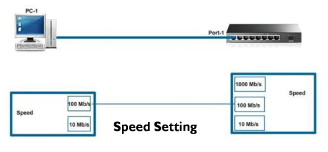 Duplex and Speed Setting on Switch 11